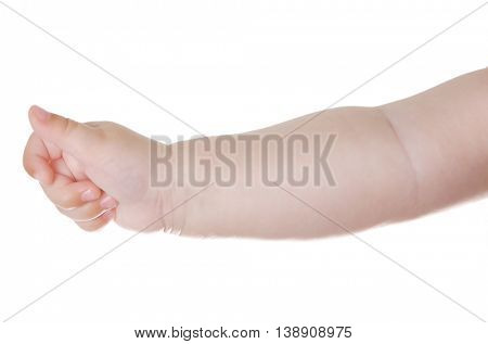 Baby hand, isolated on white