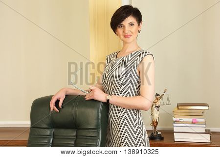 successful business woman lawyer at work in the office