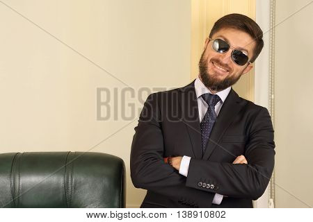 portrait of successful business man in the office