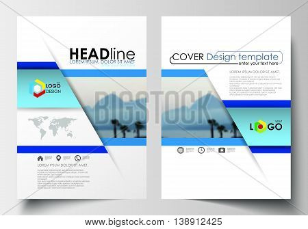 Business templates for brochure, magazine, flyer, booklet or annual report. Cover design template, easy editable blank, abstract layout in A4 size.