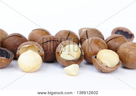 Macadamia nuts, creamy, delicious taste and high cost of health benefits.