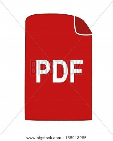 Pdf icon -  vector image. Pdf sign.