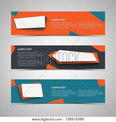 Collection banners with abstract design pointers template vector eps 10
