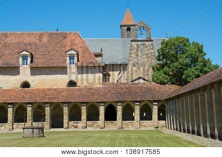 Cloister of the Chartreuse of Saint-Sauveur in Villefranche-de-Rouergue France