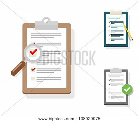 Survey Illustration. Checklist Illustration. Survey Checklist Icon. Survey Checklist Flat