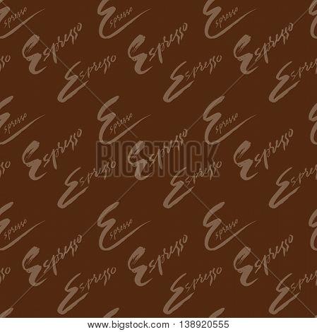Vector illustration of seamless coffee pattern. Seamless espresso pattern