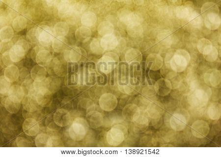 Glow Densely Golden Bokeh Light Background