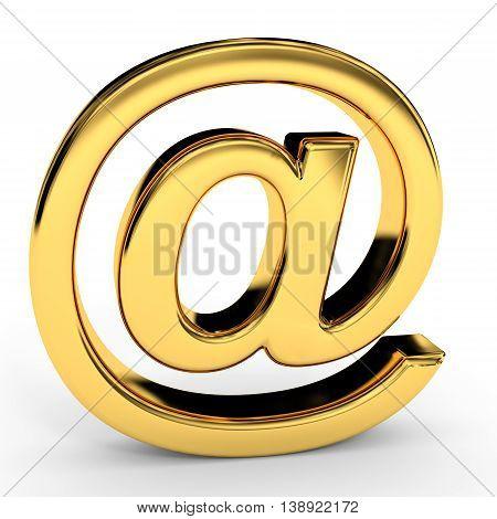 Golden E-mail Sign.