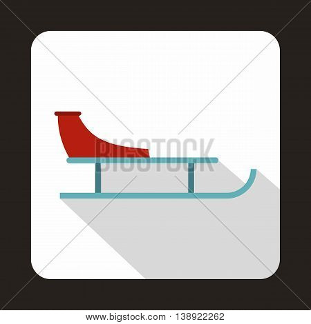 Sled icon in flat style on a white background