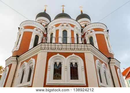 Alexander Nevsky Cathedral, the main Orthodox Cathedral in the Old Town of Tallinn. Estonia.