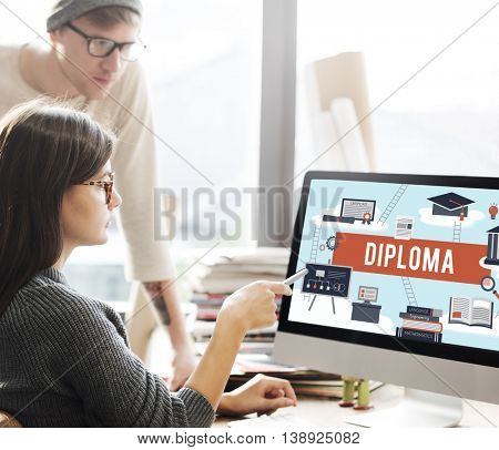 Diploma College Degree Certificate Intelligence Concept