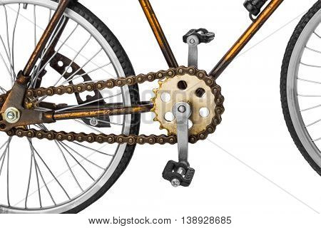 Toy bicycle isolated on white background
