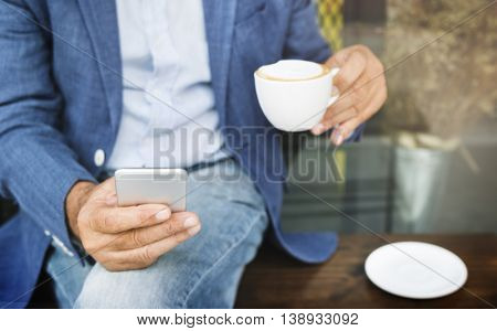 Cafe Coffee Caffeine Casual Relaxation Style Concept