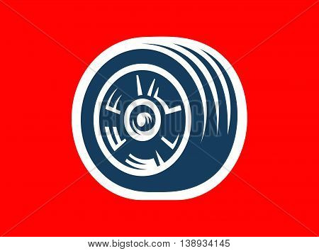 Vector tire symbol or icon - car tire logo