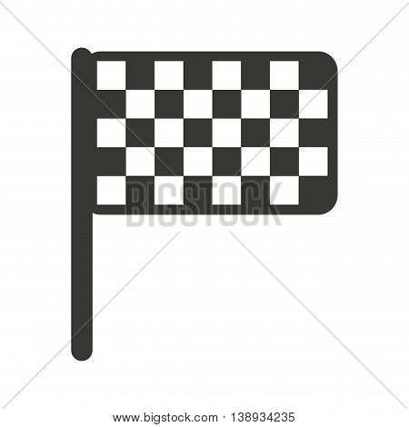 flag finish goal icon vector isolated graphic