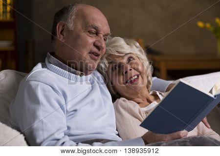 Romantic Evening Of An Elderly Couple