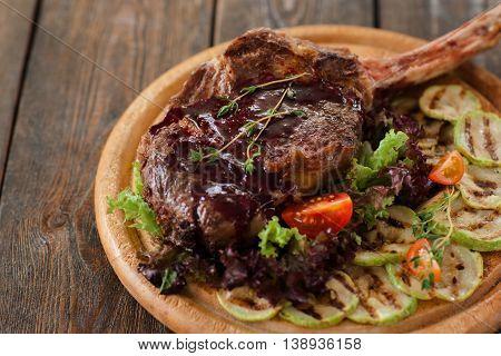Food Pork Grilled Rib Bone Vegetable Bbq Cuisine Cooking Meat Concept