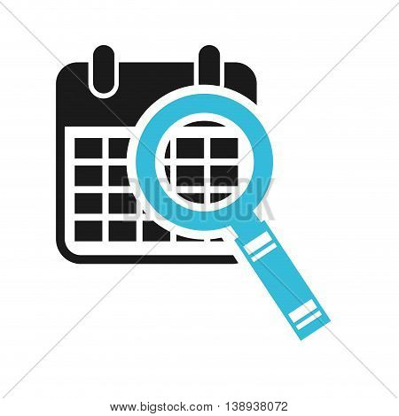 calendar search magnifying glass icon vector isolated graphic