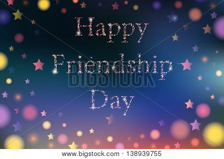 Vector Illustration Card With Colourful Text For Friendship Day