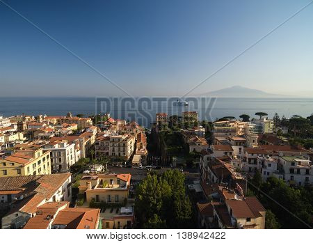 Aerial View of Piano di Sorrento, Italy