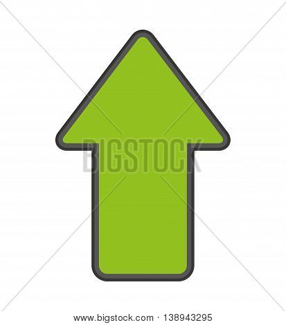 arrow up upload index vector isolated graphic