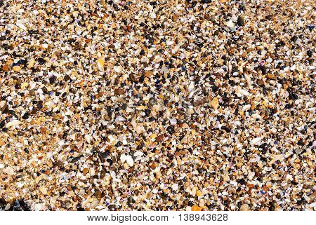 Sand at the beach as a textured background