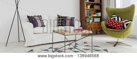 Simple Furnished Living Room Idea