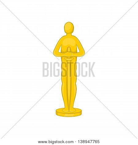 Movie award icon in cartoon style isolated on white background. Rewarding symbol