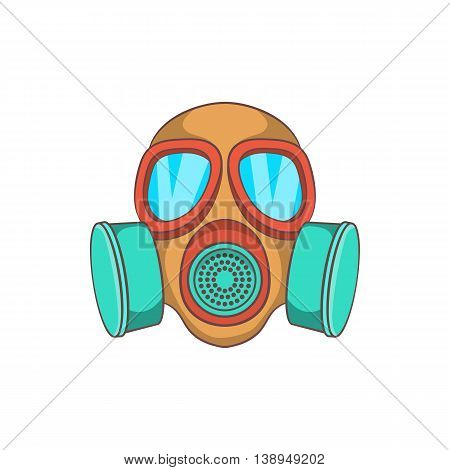 Gas mask icon in cartoon style isolated on white background. Protection symbol