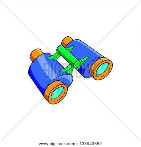 Binoculars icon in cartoon style isolated on white background. Optical device symbol