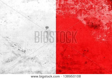 Flag Of Mdina, Malta, With A Vintage And Old Look