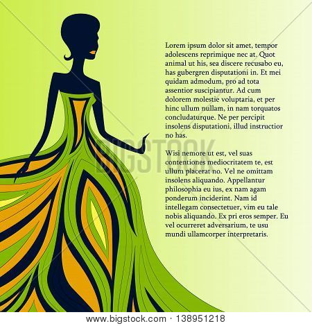 colorful background for text with girl in dress