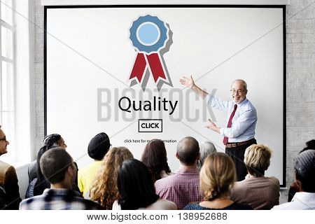 Quality Guarantee Level Service Best Class Value Concept