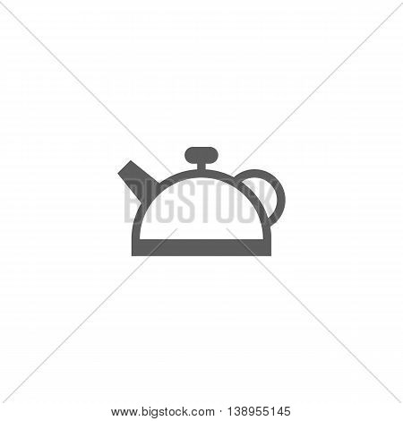Vector illustration of teapot icon on white background