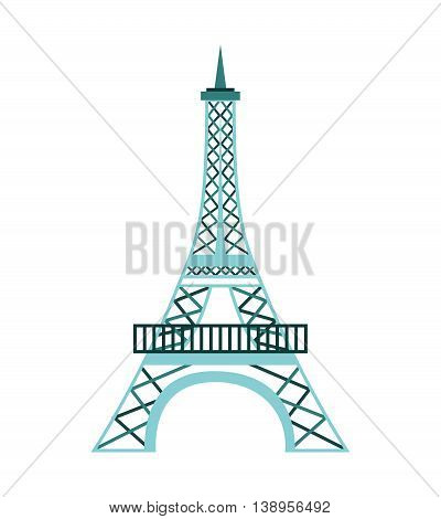 tower eiffel france icon graphic isolated vector