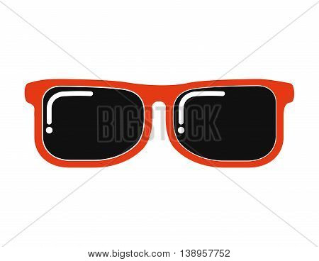sun glasses view icon graphic isolated vector