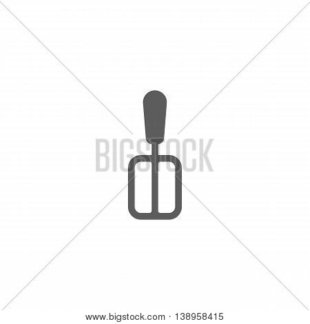 Vector illustration of spatula icon on white background
