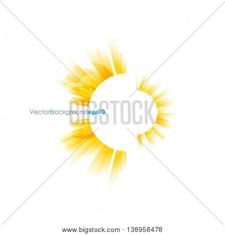 White vector background with sun burst effect