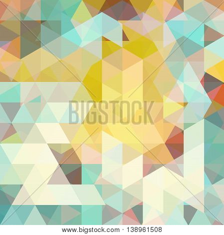 Abstract Mosaic Background. Triangle Geometric Backdrop. Design Elements. Vector Illustration. Yello