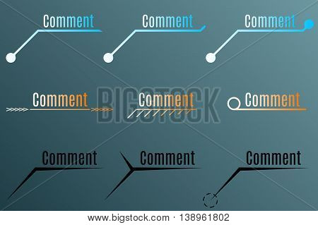 Annotation or comment for motion design. Vector illustration