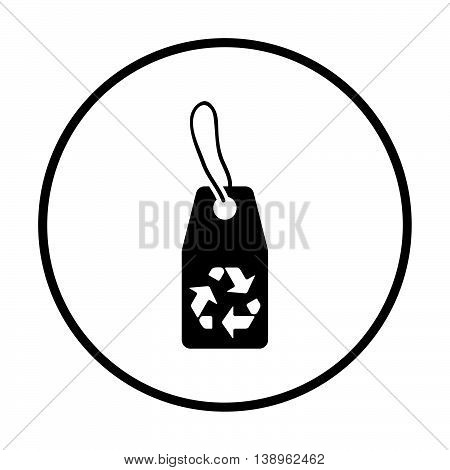 Tag With Recycle Sign Icon