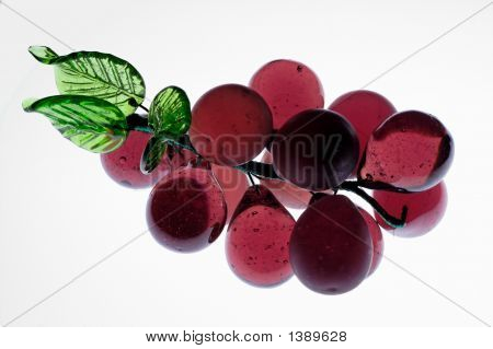 Glass Grapes Illuminated By Transparency