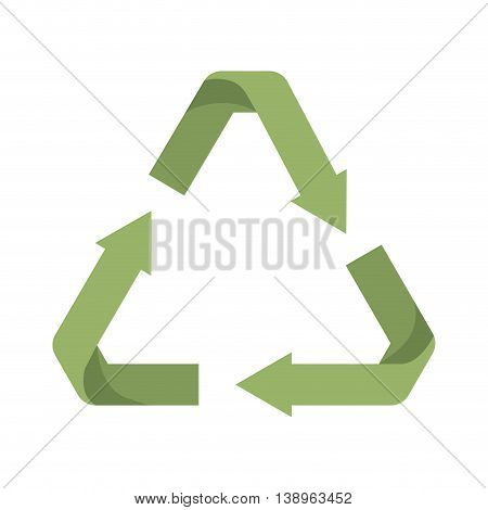 arrows recycle symbol green isolated icon design, vector illustration  graphic