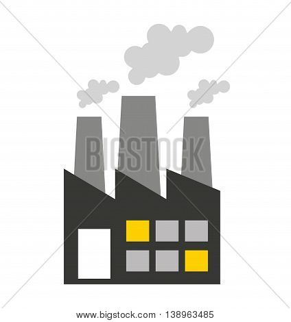 plant factory building icon vector isolated graphic