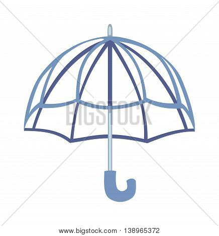 Cartoon multi colored umbrella flat design style. Autumn accessory concept fashion umbrella. Colorful flat collection comfort umbrella outdoor element, climate protective sign.