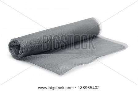 Roll of mosquito net isolated on white