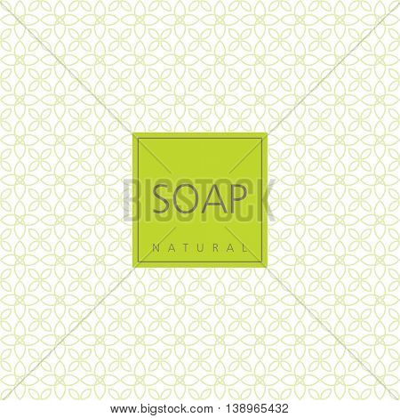 Vector Background for natural handmade soap