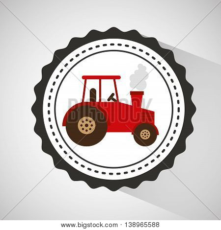 farm countryside tractor isolated, vector illustration eps10