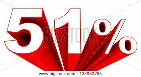 Discount 51 Percent Off Sale.