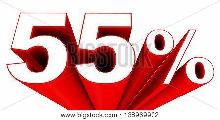 Discount 55 Percent Off Sale.